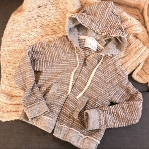 Anthropologie Dolan tweed sweatshirt hoodie jacket